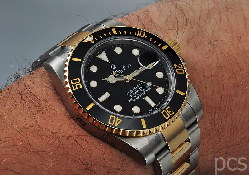 Rolex Submariner Silber Gold