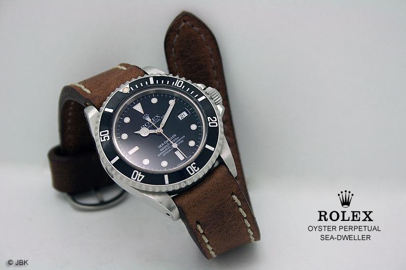Rolex Datejust Mit Lederband